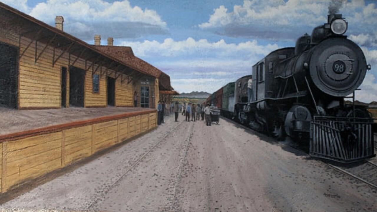 Benson train depot mural