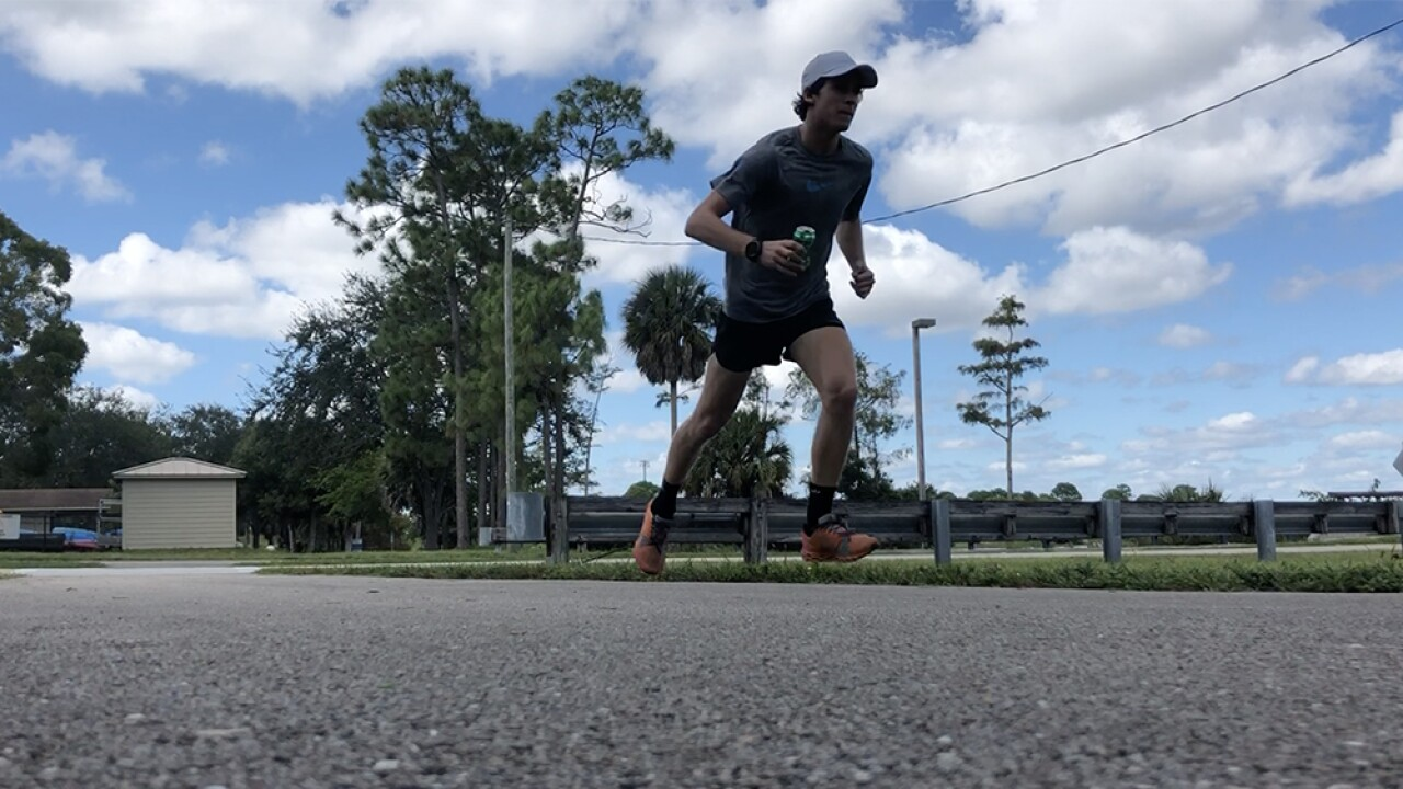 Florida teen running seven marathons in seven days miles to raise awareness about environment