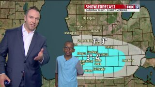April Weather Kid, Isaac, predicts the weekend forecast