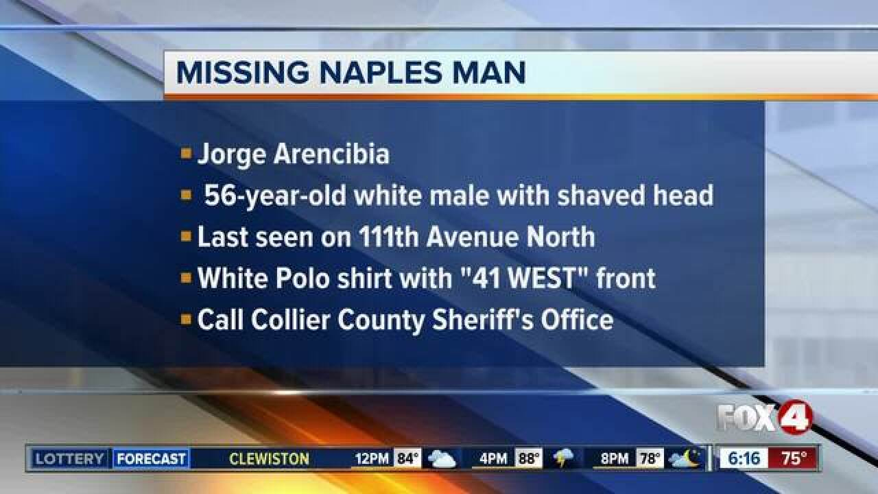 Missing Collier County man