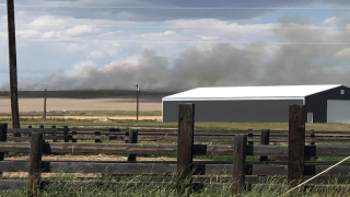 Crews battling fire two miles northwest of Big Sandy