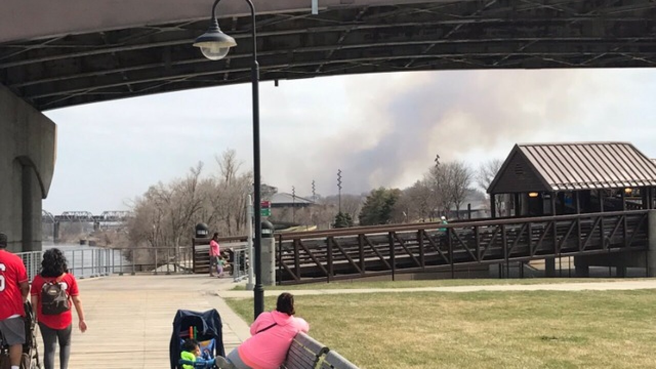Controlled burn shuts down Veterans Memorial Bridge