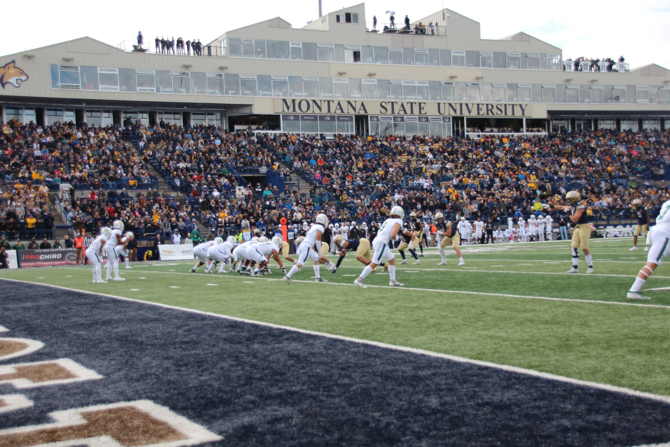 Cal Poly on offense in the first half