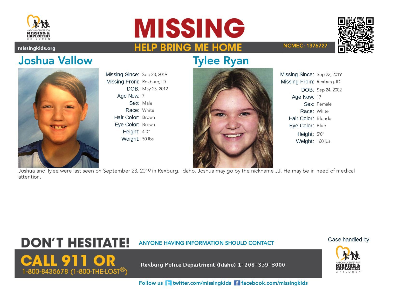 Photos: Police seeking couple for questioning in Rexburg children's disappearance and deaths of former spouses
