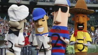 Mini-chorizo heads the wrong way in sausage race