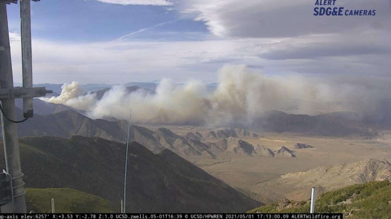 Shelter Valley Brush fire