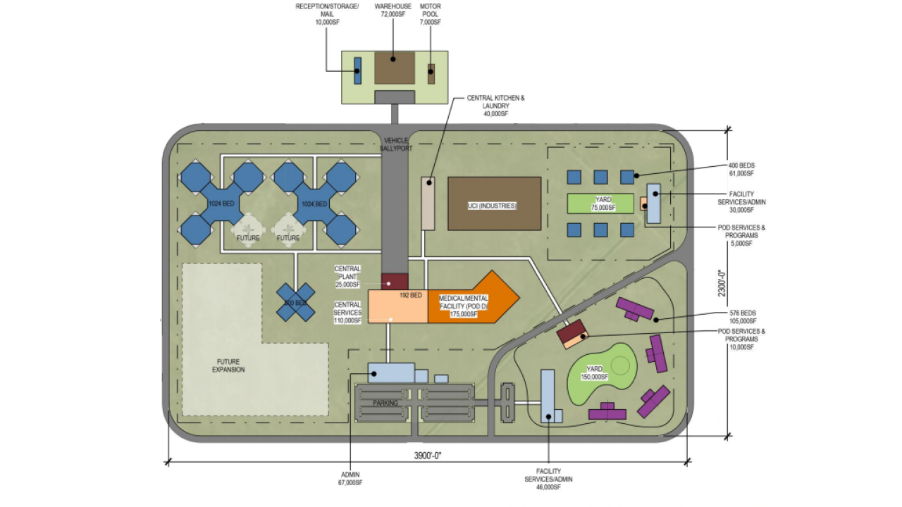 The new Utah State Prison will have a moderndesign