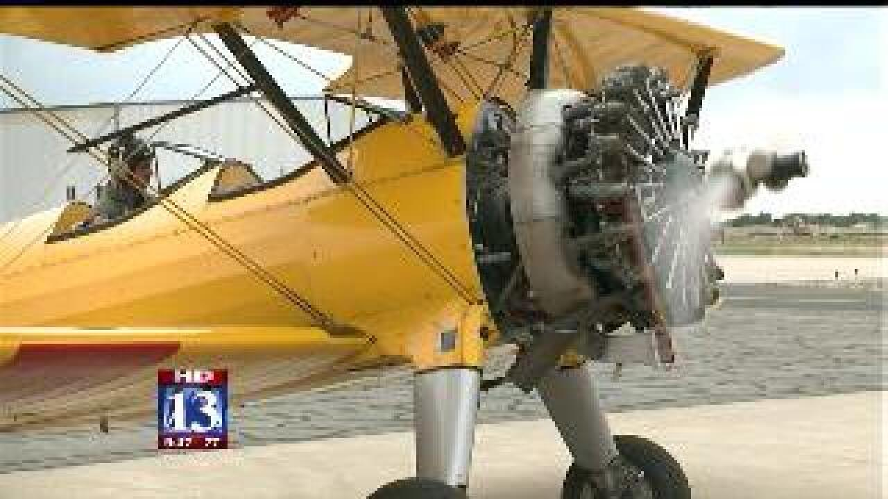 WWII planes on display in Ogden