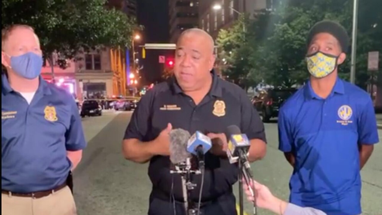 """Man shot by BPD officer after pointing gun at crowd Thursday morning in """"The Block"""""""