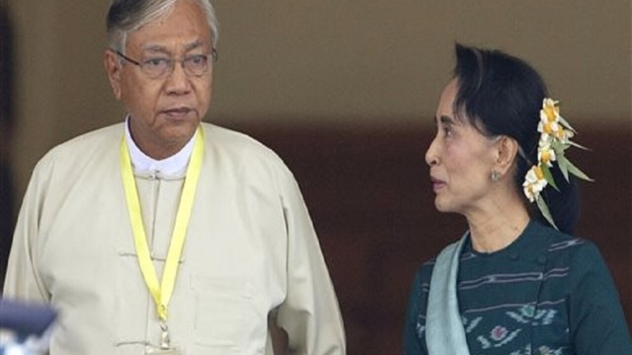 Myanmar president to include Aung San Suu Kyi in his Cabinet