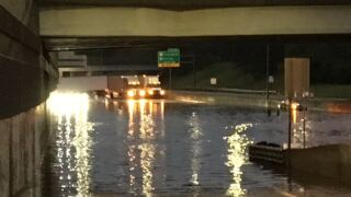 Heavy rains close Detroit-area highway