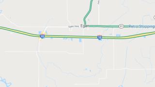I-10 near Egan now open