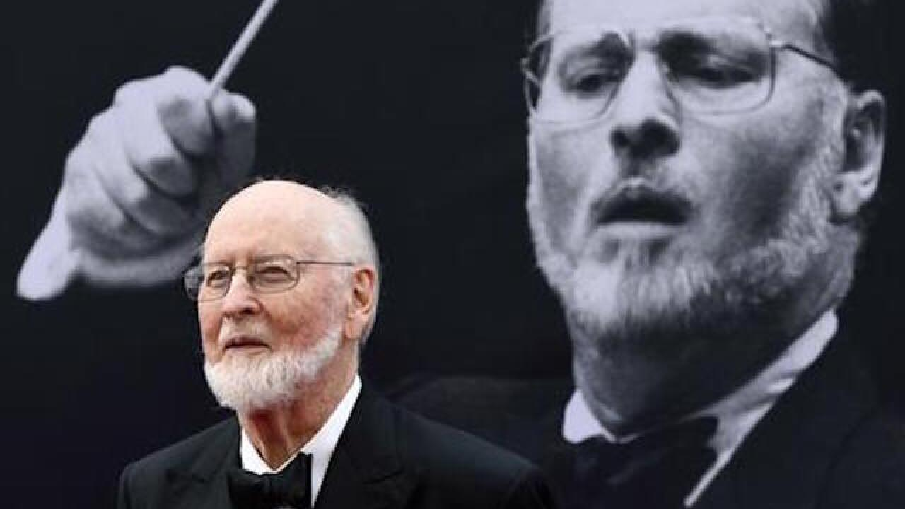 John Williams, legendary composer, greets fans outside his home