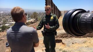 10News Anchor Steve Atkinson with Chief Rodney Scott of CBP San Diego Sector