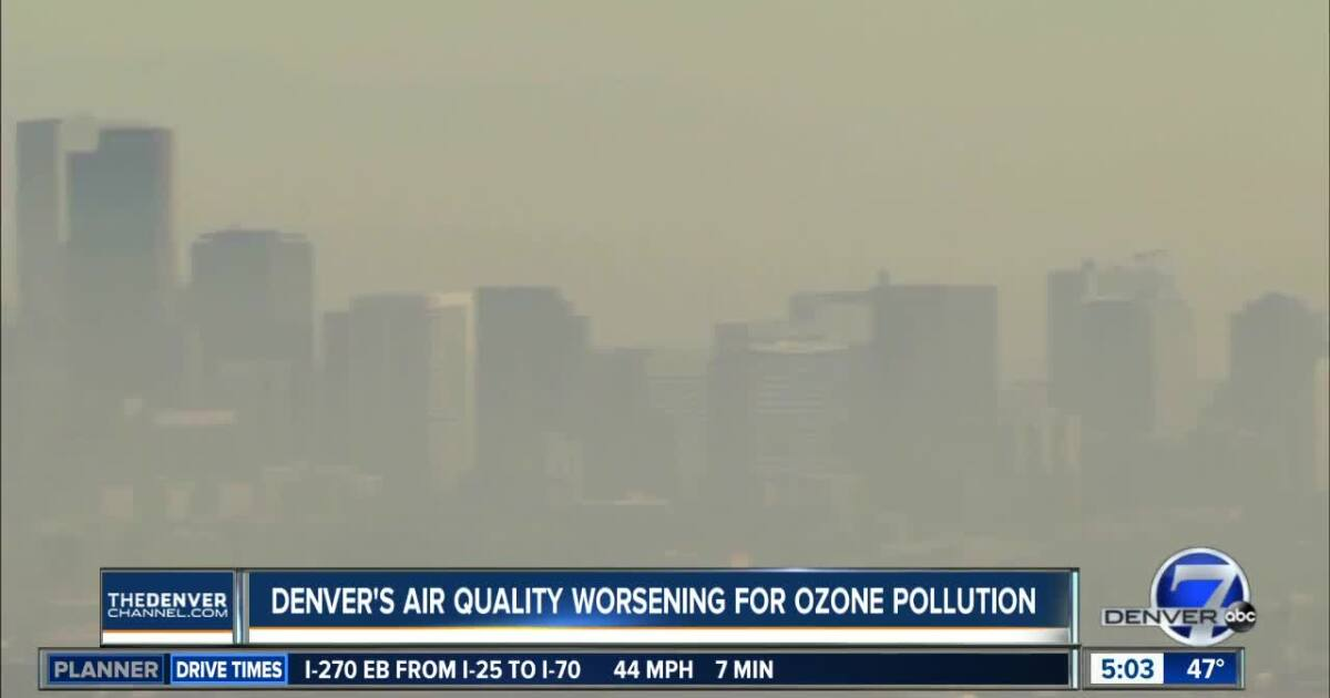 Denver ranks 12th worst in country for ozone pollution