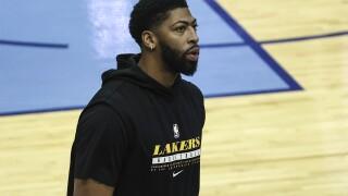 Anthony Davis Lakers Rockets Basketball