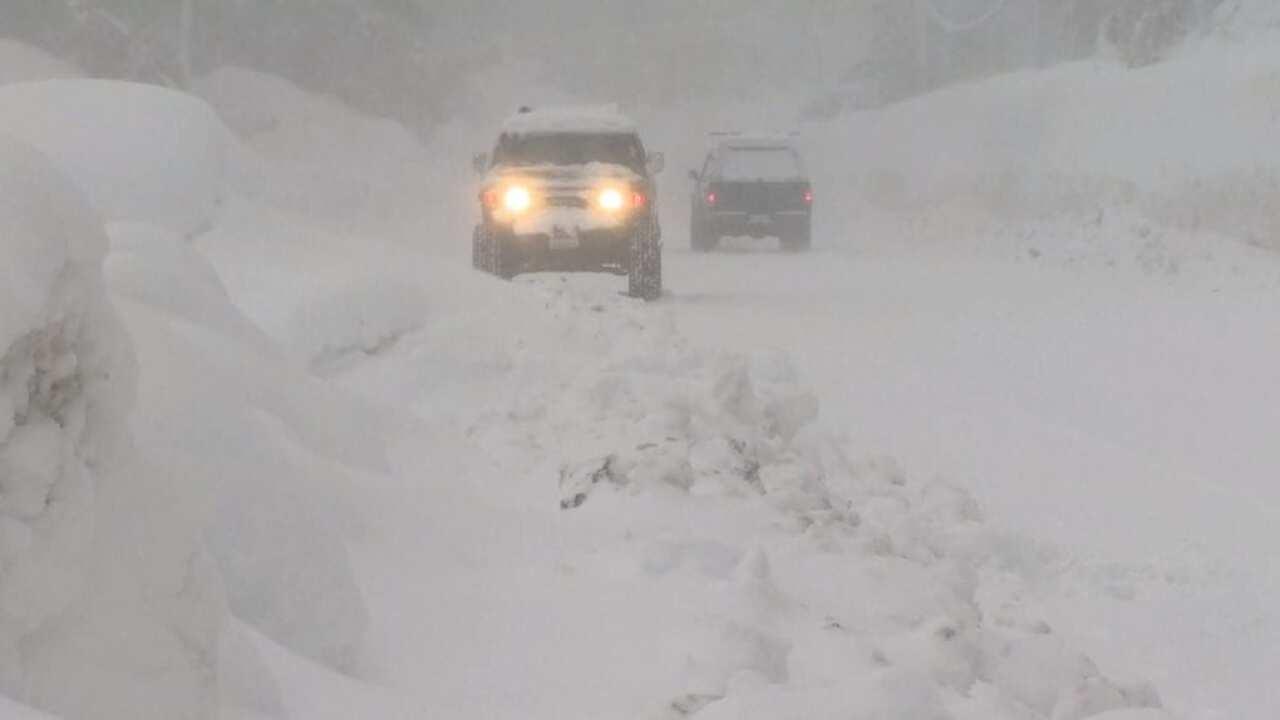 Snow piles up in Sierra Nevada