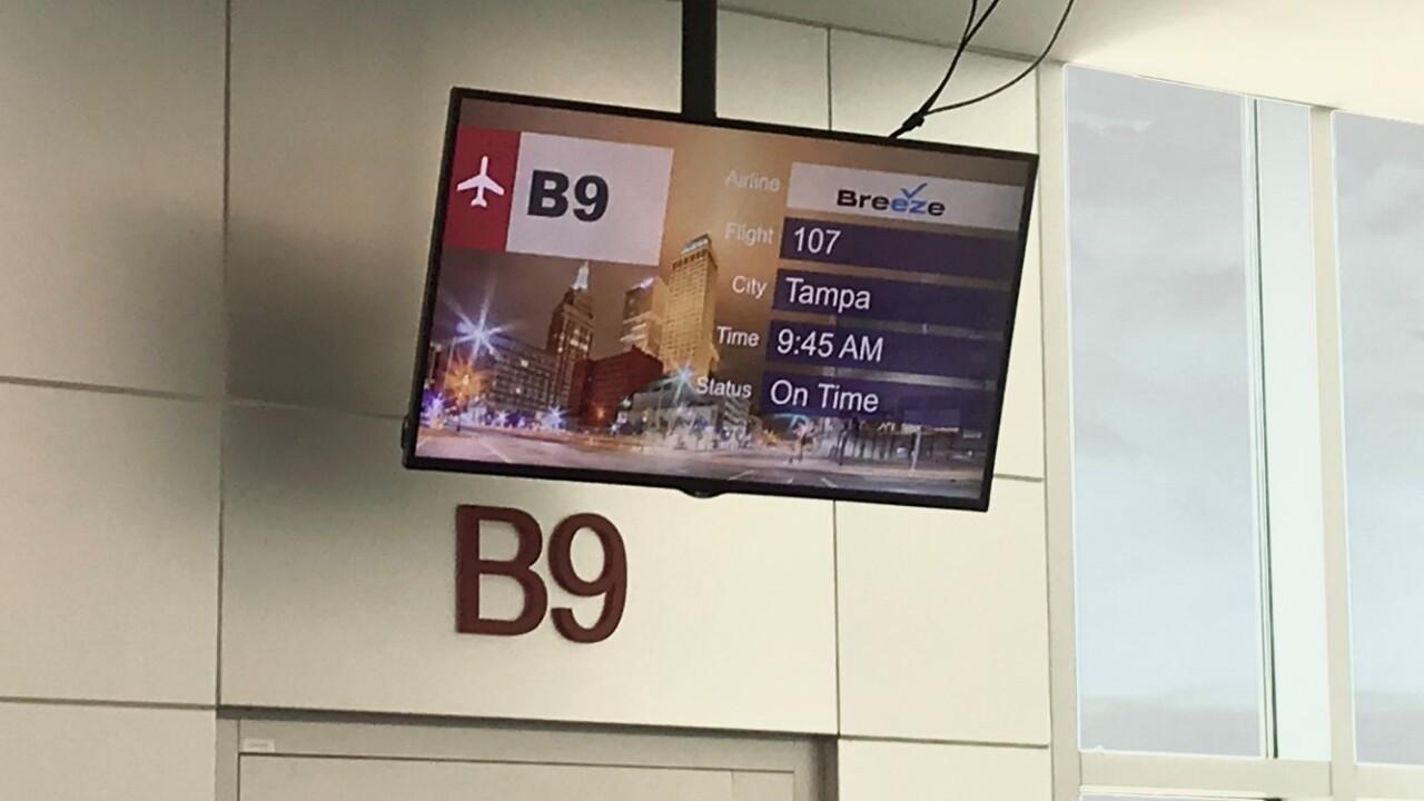 Breeze Airways' inaugural flight