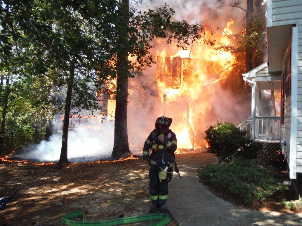 Photos: Fire destroys Newport News duplex