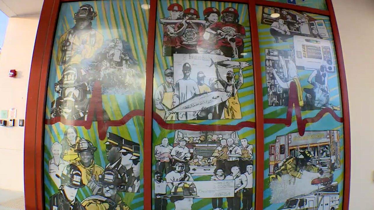 New mural at Boynton Beach Fire Rescue Station 1