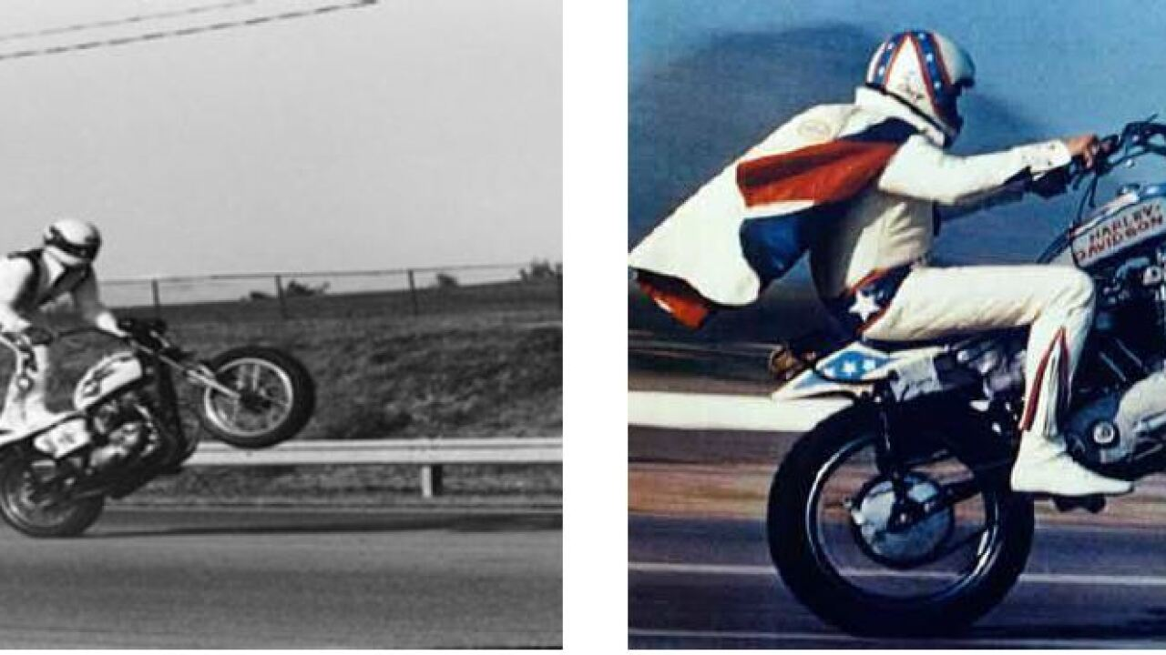 """These are pictures presented in a lawsuit filed by K&K Promotions against the Walt Disney Company to show the similarities between Evel Knievel and Toy Story 4 character """"Duke Caboom"""""""