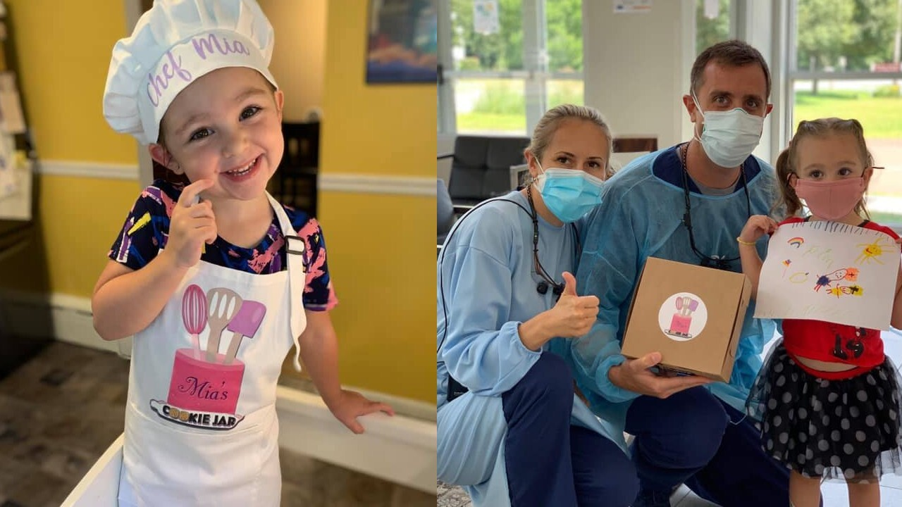 3-year-old bakes over 1,000 cookies, delivers them to essential workers amid pandemic