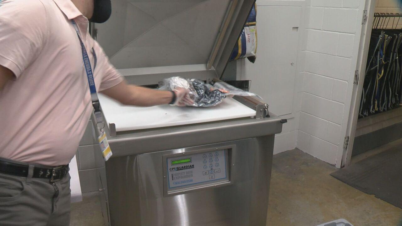 Property shrink wrap machine
