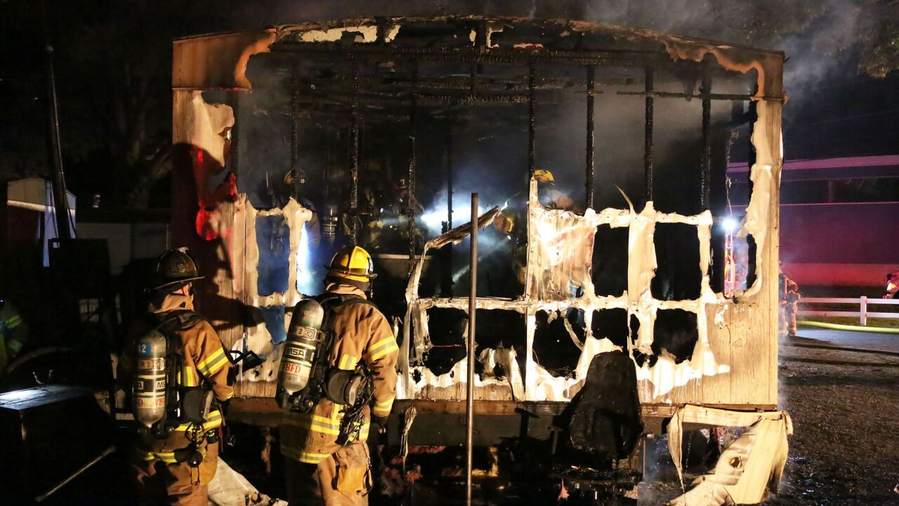 Man hospitalized after Virginia Beach mobile home firedies