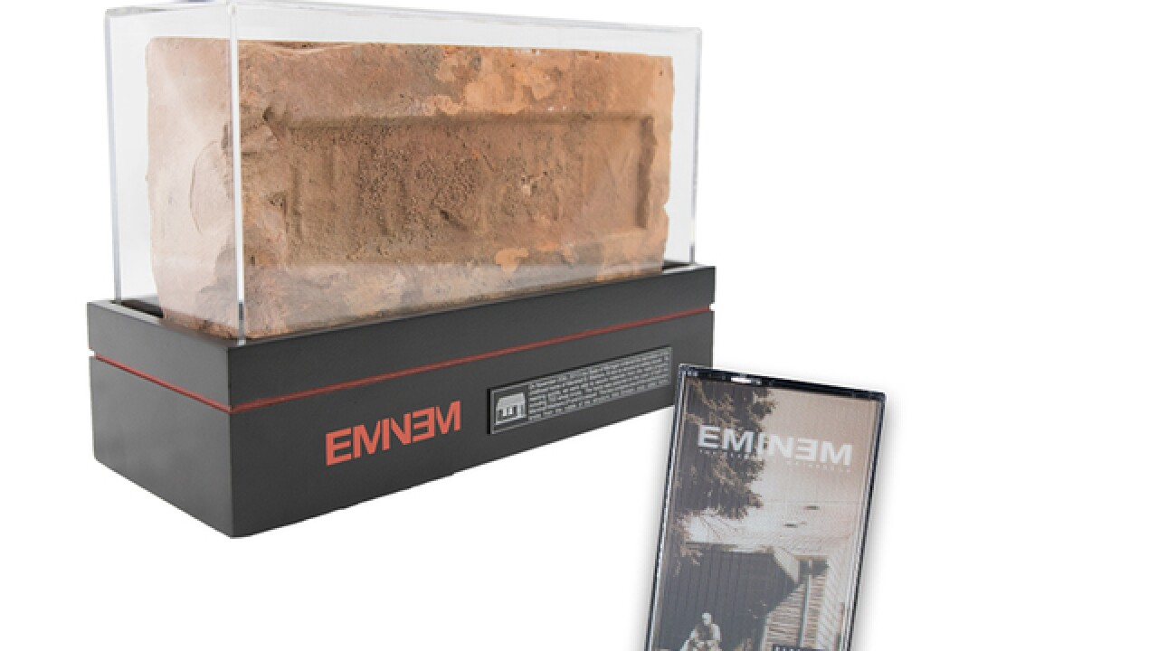 Eminem sells 700 bricks from his childhood home