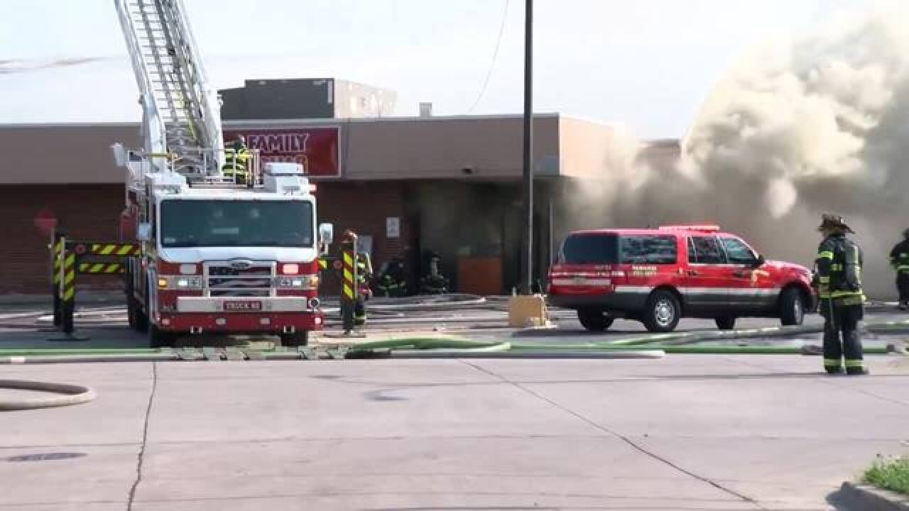 MFD battles 2-alarm fire at Family Dollar Store