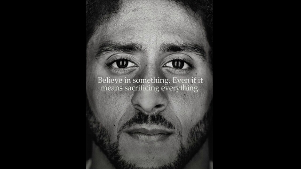 official photos 8f2c3 5e9b6 Nike s stock reaches all-time high after Colin Kaepernick ad controversy