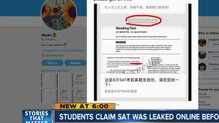 Students claim SAT was leaked online months before