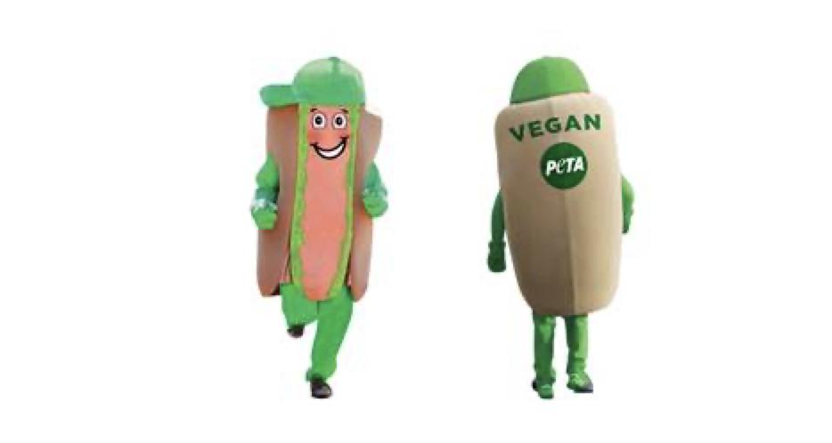 PETA vegan dog mascot