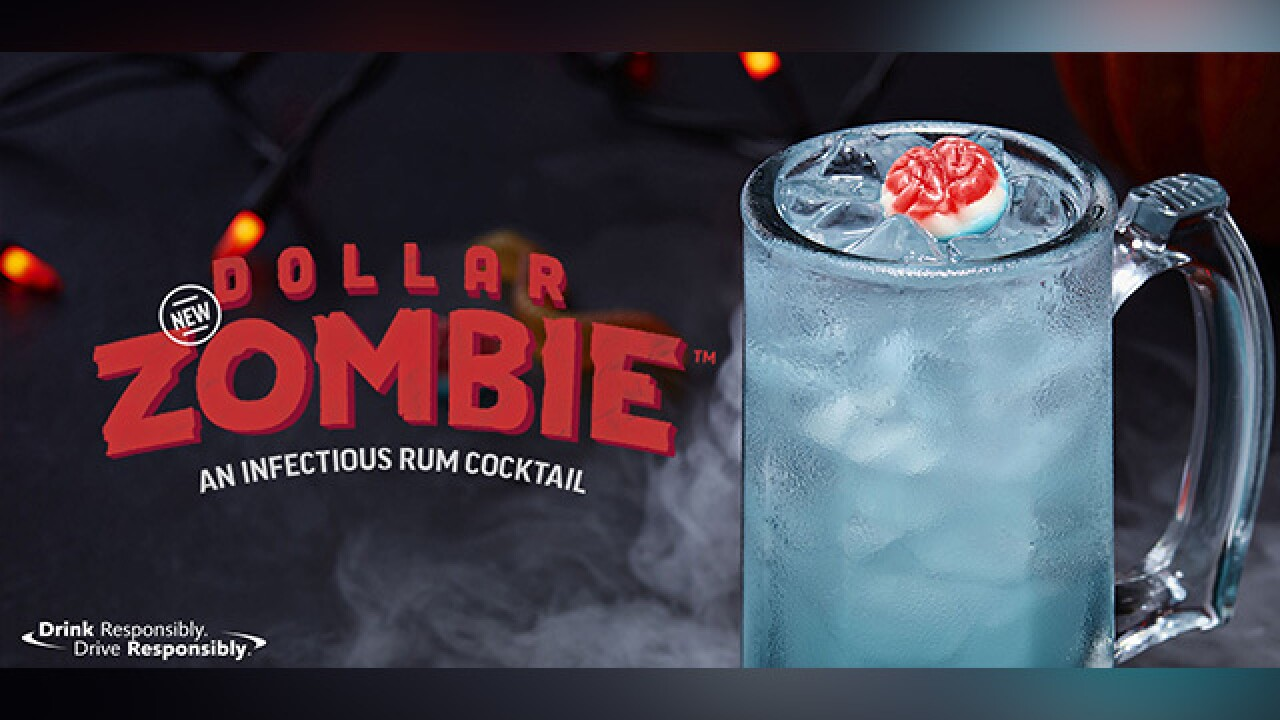 Applebee's selling $1 'Zombie' throughout October