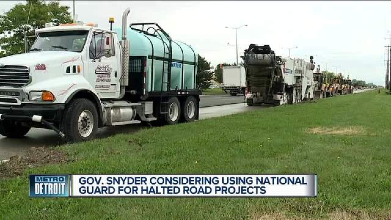 State may use National Guard on stalled projects