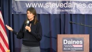 Haley campaigns for Daines in Great Falls