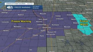 oct 23 freeze warning