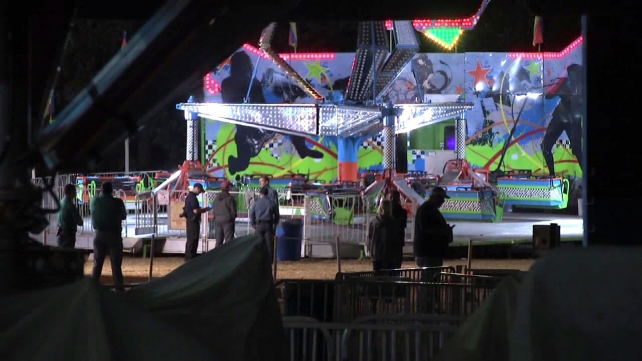 Girl killed after being flung from 'Extreme' ride at harvest festival