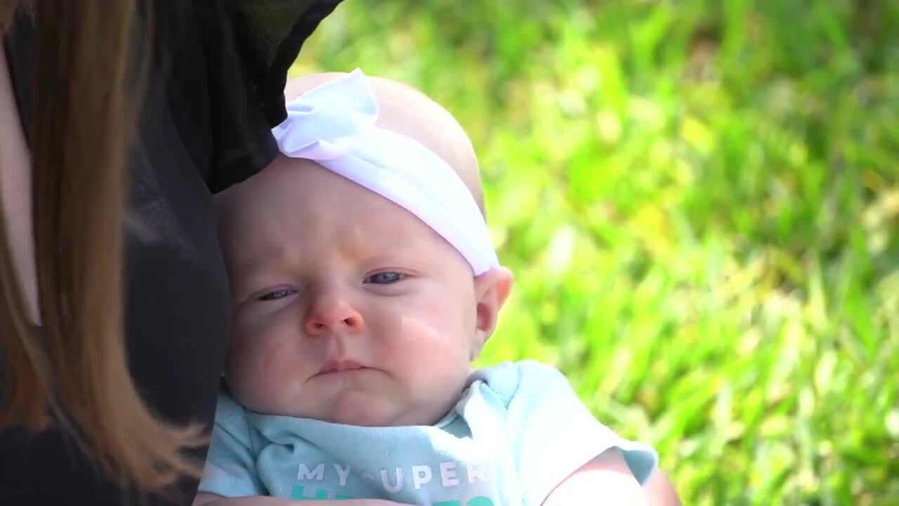 baby girl Addison born with COVID-19 antibodies
