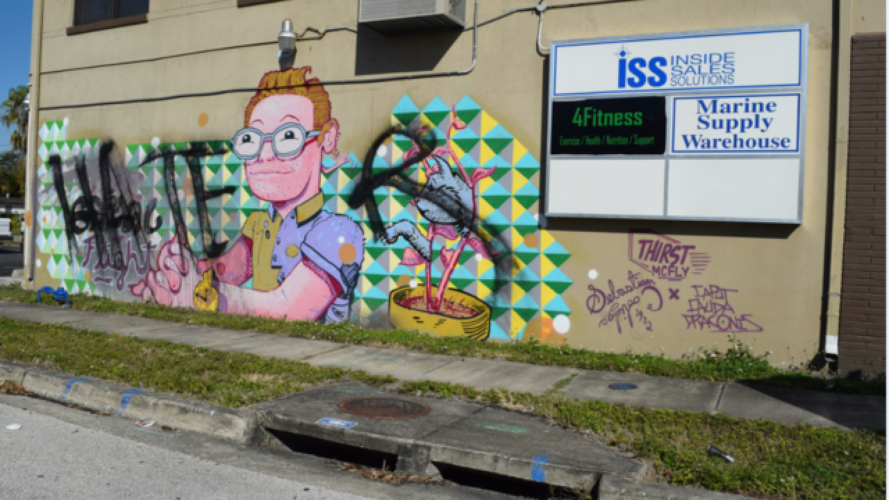 Several St. Pete murals ruined by vandals