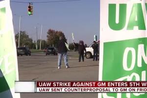 UAW strike against GM enters fifth week