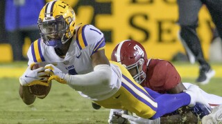 Alabama LSU Football Kayshon Boutte