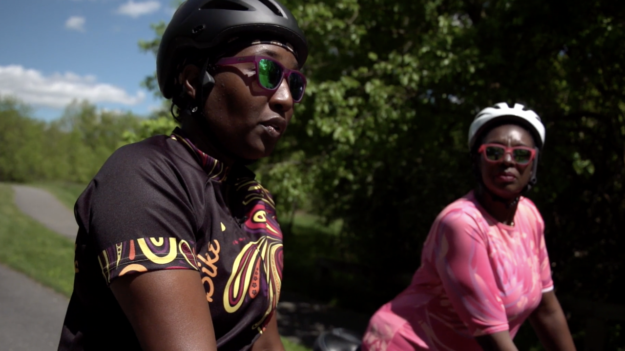 """When the pandemic started, 82% of people in the U.S. reduced their daily interactions with others. For Suzanne Webb and Adina Crawford, the group """"Black Girls Do Bike"""" brings them a sense of community and shared fellowship."""