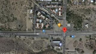 A man died after a Wednesday crash near Valencia Road and Camino de la Tierra.