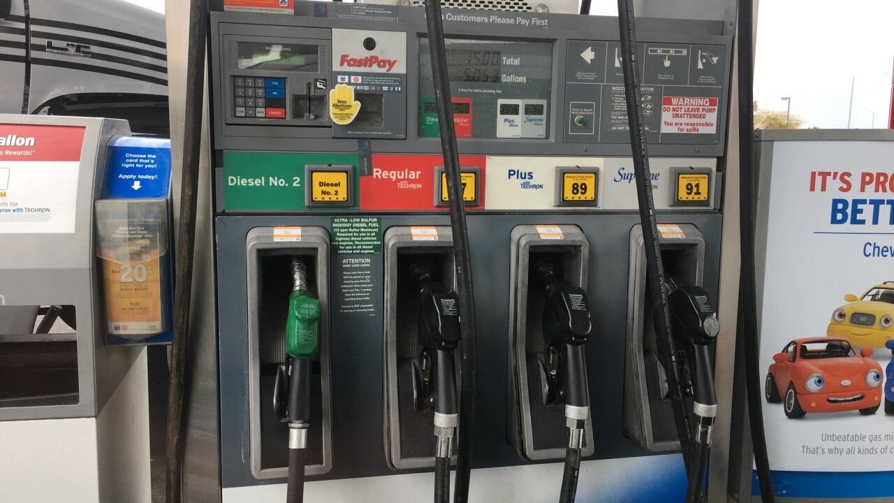 A Las Vegas driver suspects the gasoline she purchased recently may have contained water