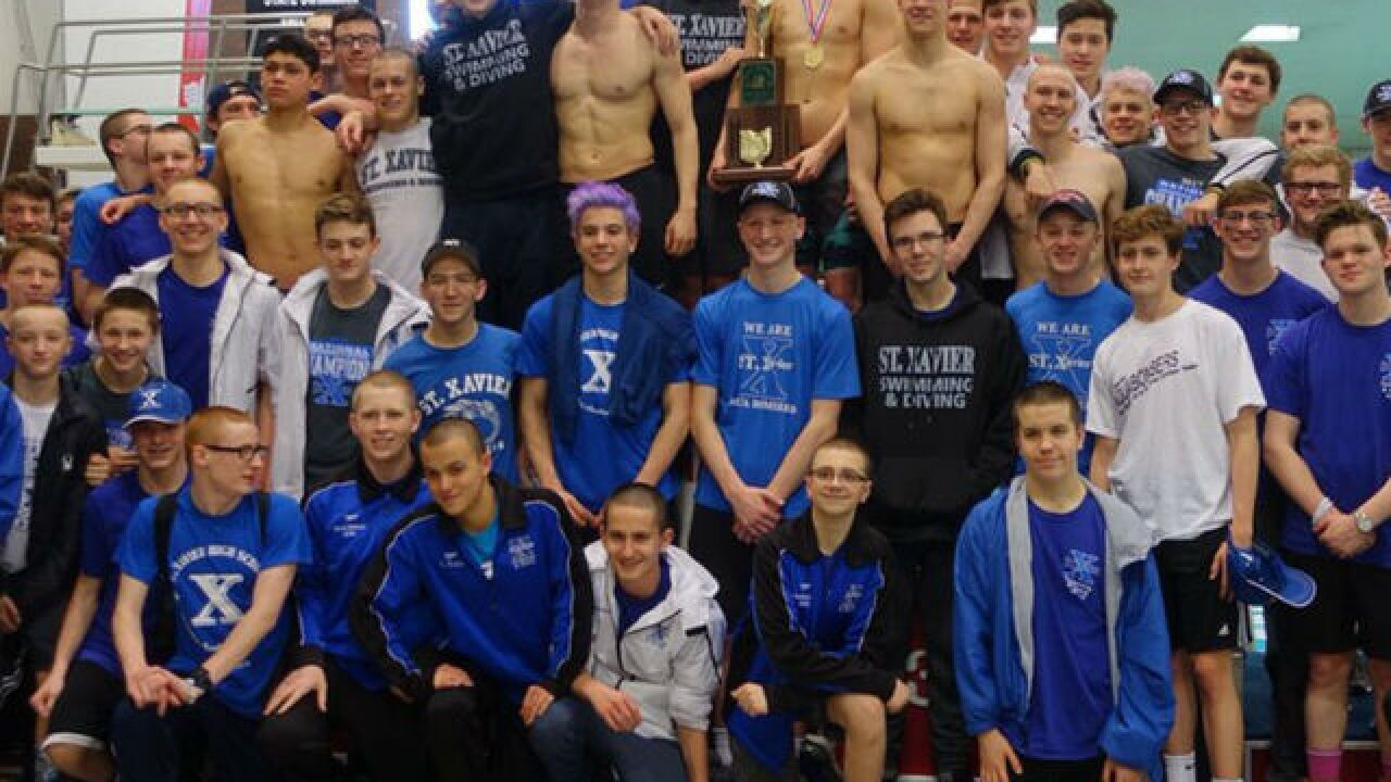 St. Xavier's Swimming and Diving Team wins the NISCA National Championship