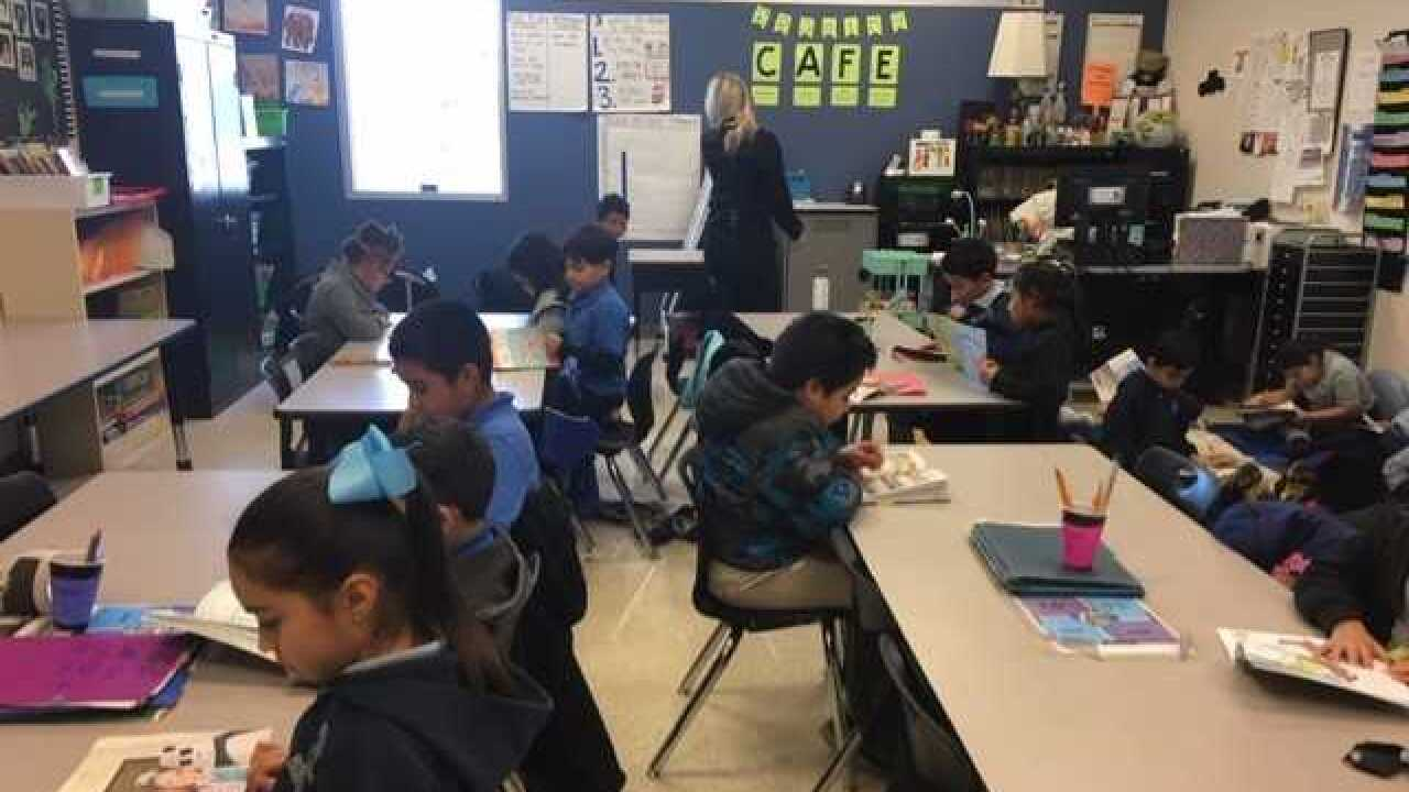 Students at Mater Academy practice reading skills