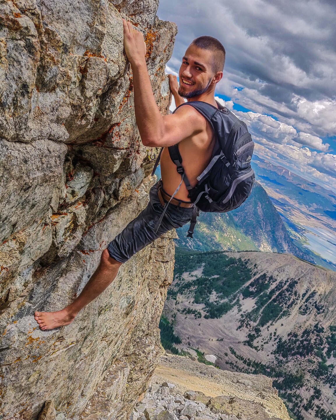 Jonathan Mather_barefoot 14er 2