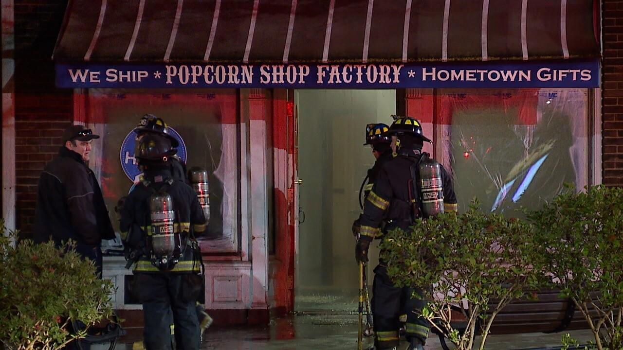 Shaker Square Popcorn Shop fire