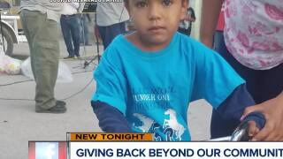Local couple hand delivers backpacks to kids in Mexico